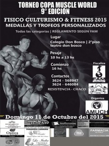 Copa Muscle Word 9 Ed @ Resistencia | Chaco | Argentina