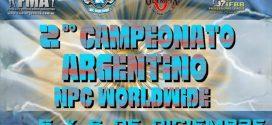 Resultados Campeonato Argentino NPC WORLDWIDE Categorías Masculinas